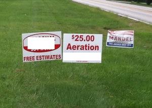 cheap lawn aerating